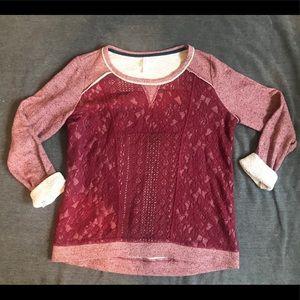 Xhilaration Lace Sweatshirt
